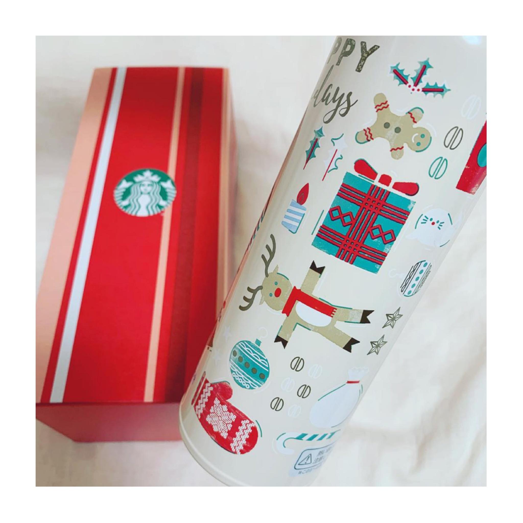 《保温•保冷機能が抜群❤️》【スタバ】クリスマスモチーフのステンレスボトルが可愛くて優秀☻!_2