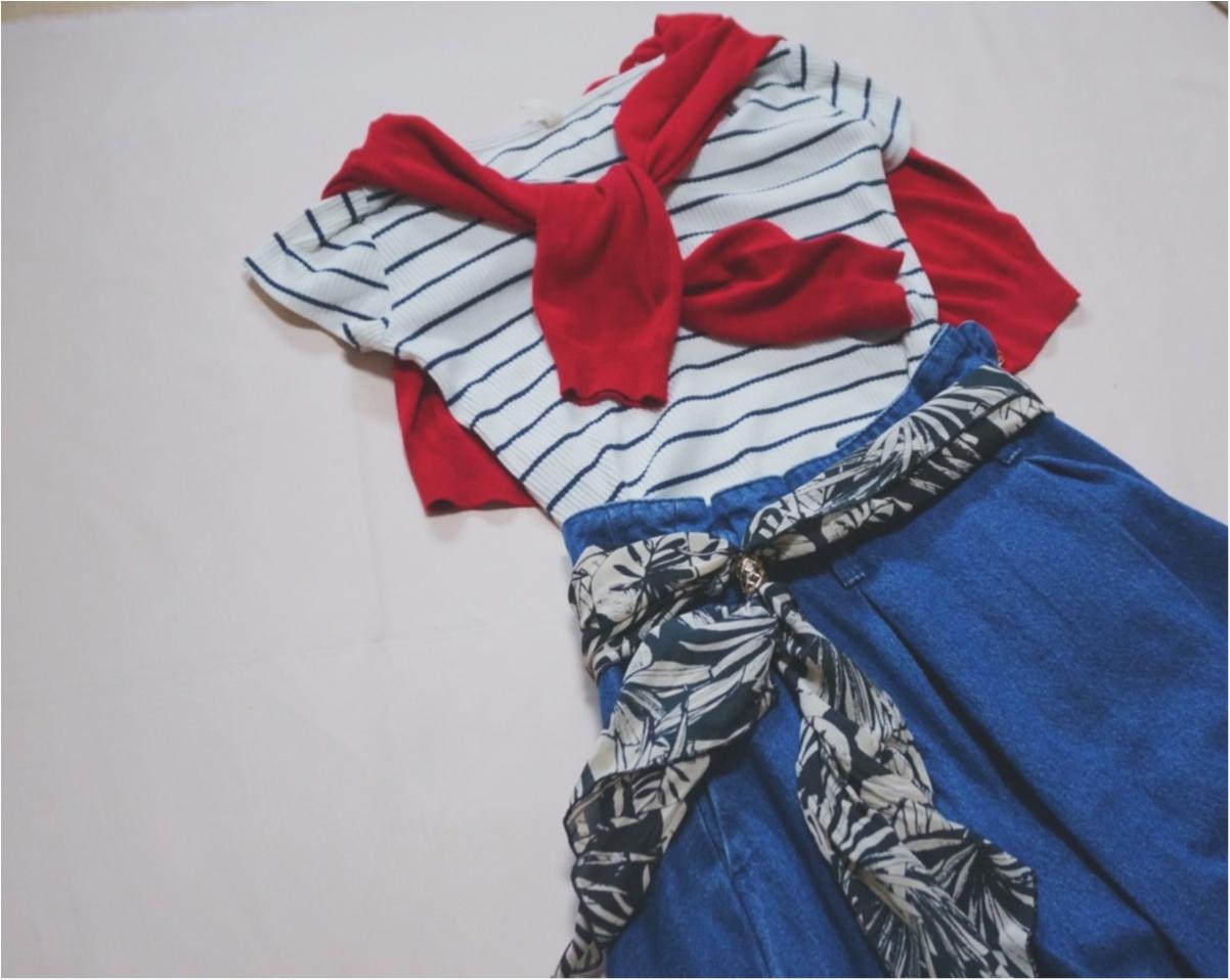 《カジュアルなのに可愛く決まる‼︎》春にしたいデニムコーデは【GU】で決まり♪大人可愛い『デニムフレアスカート』がめっちゃ使える♡_5