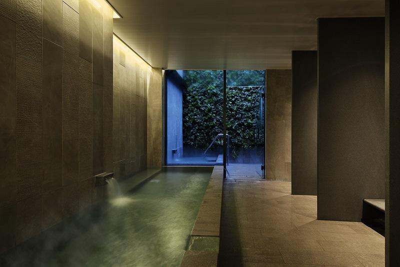 【名古屋のおしゃれホテル】『ホテル・アンドルームス名古屋栄』、大浴場付露天風呂の様子
