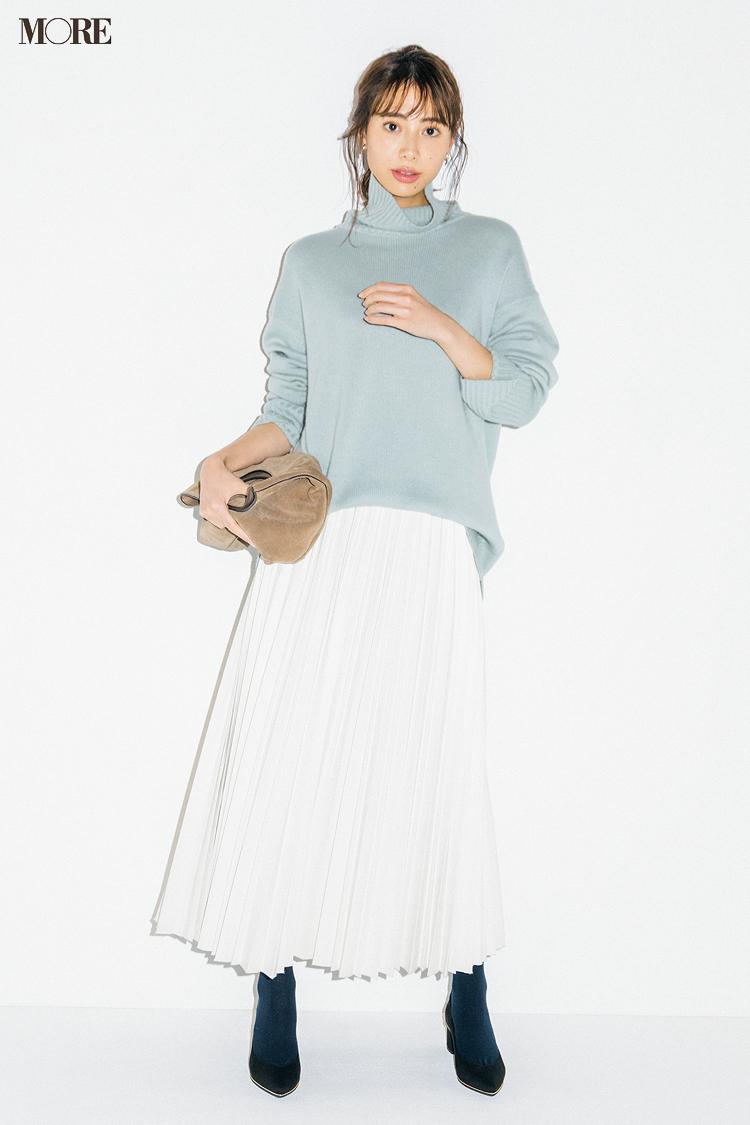 【今日のコーデ】<土屋巴瑞季>エコレザーの魅力にプリーツスカートで開眼!_1