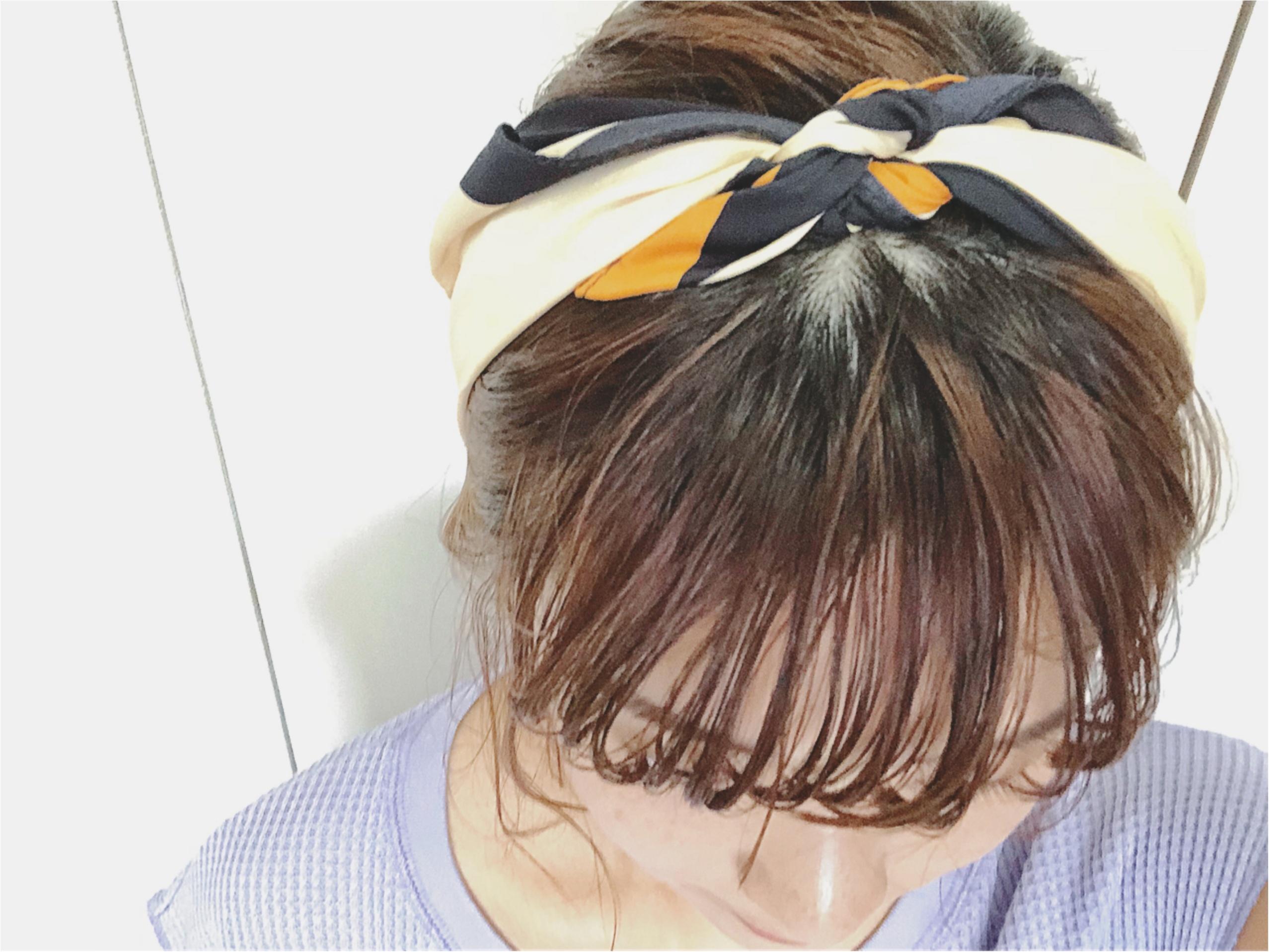 《トレンドアイテムで1分ヘアアレンジ》暑い日にも忙しい朝にも【スカーフ】がお役立ち❤️_7