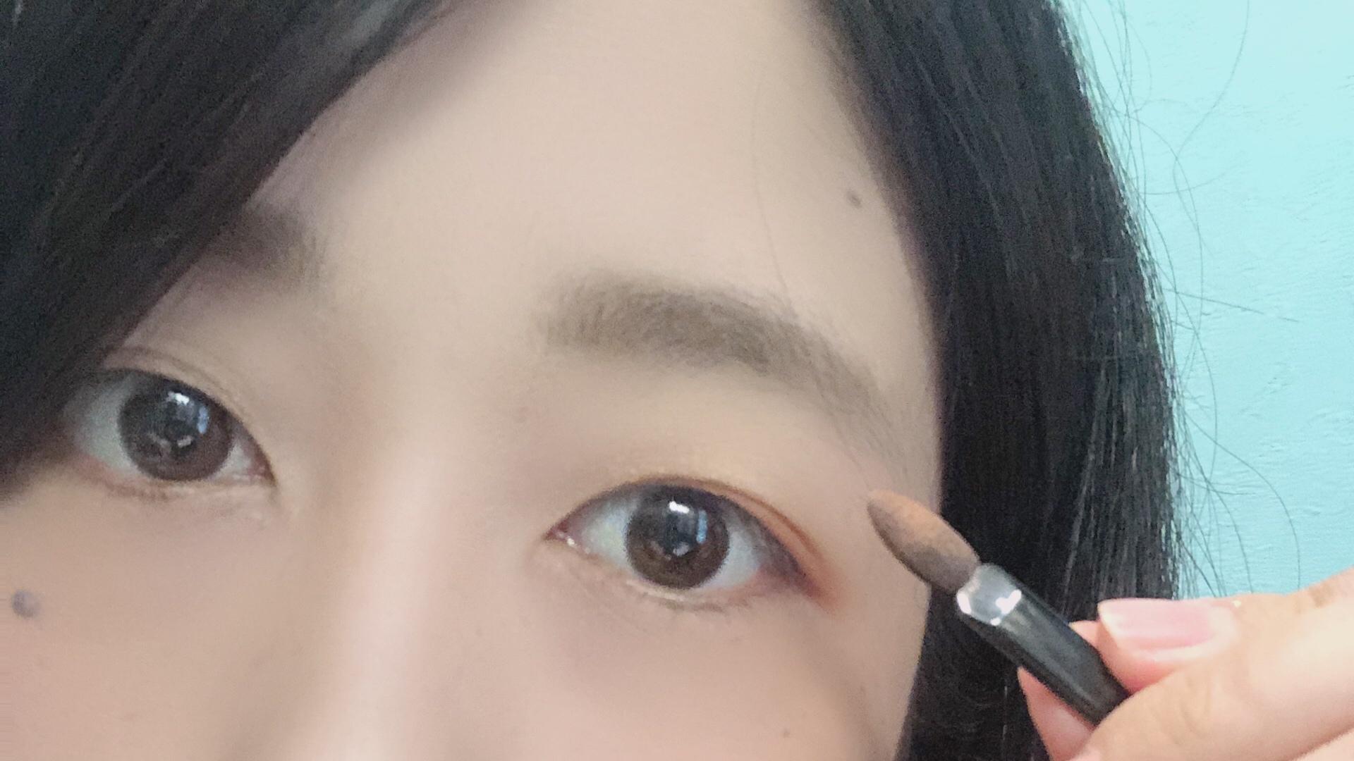 実践!白石麻衣ちゃんオレンジブラウンアイメイク術_4