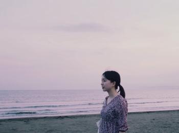 【GU】海へお散歩のワンピース