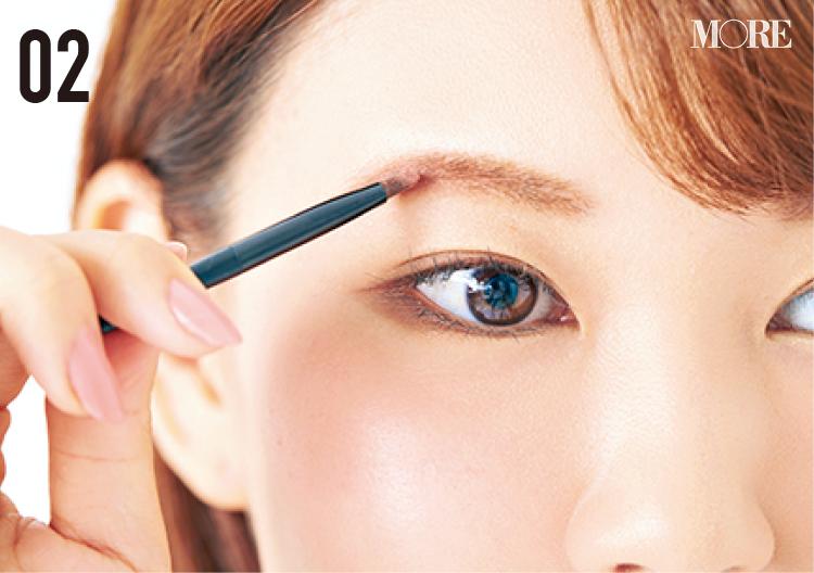 小顔効果のある眉の描き方や、夜まで崩れない眉メイクのコツとは⁉ 美容家・立花ゆうりさんの『優しげピンク眉』に注目 _4