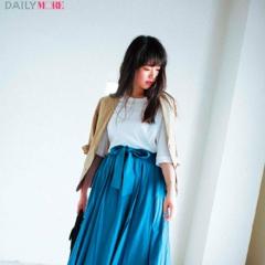 【今日のコーデ/唐田えりか】ちょっぴり特別感が欲しい日は、ドラマティックなフレアスカートで魅力アップ。