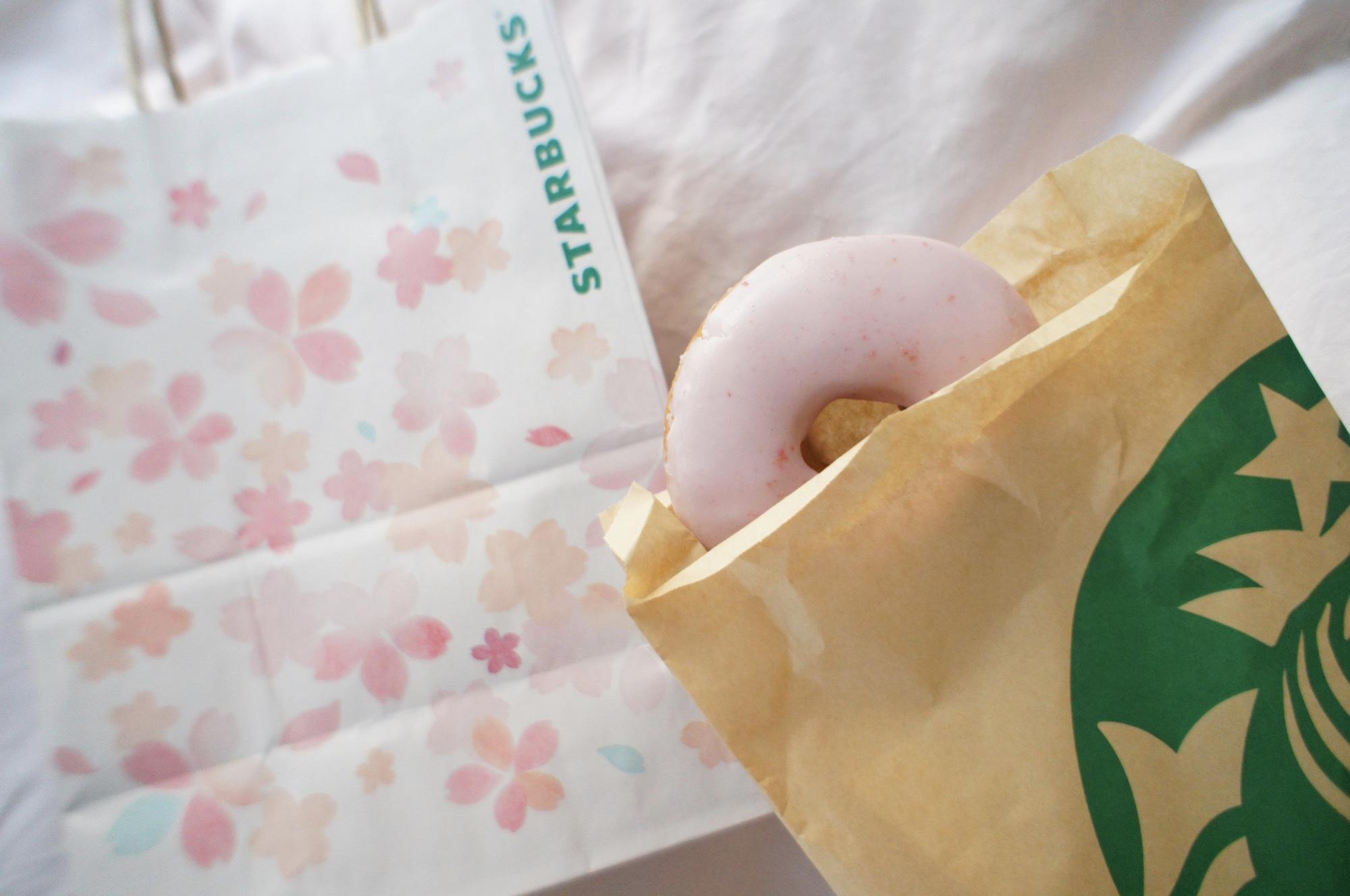 《レジ横foodに注目❤️》フードも春メニューに!【スタバ】さくらドーナツが美味しい!☻_3