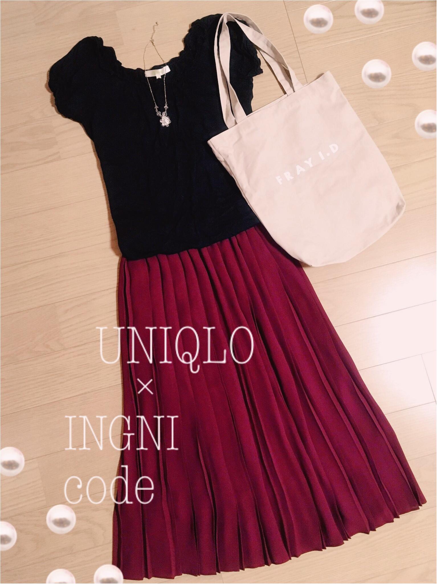 ユニクロの大人気スカートの新作♡ハイウェストシフォンプリーツミディスカートで手軽にかわいく初秋スタイルを取り入れよう♡_3