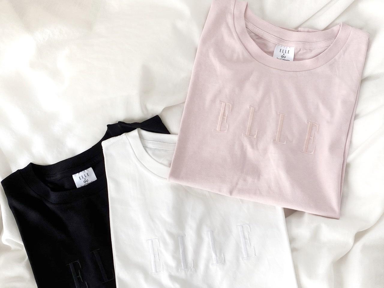 【GU×ELLEがコラボ!】思わず3色買い♡SNSでも話題のプチプラTシャツをGET!_1