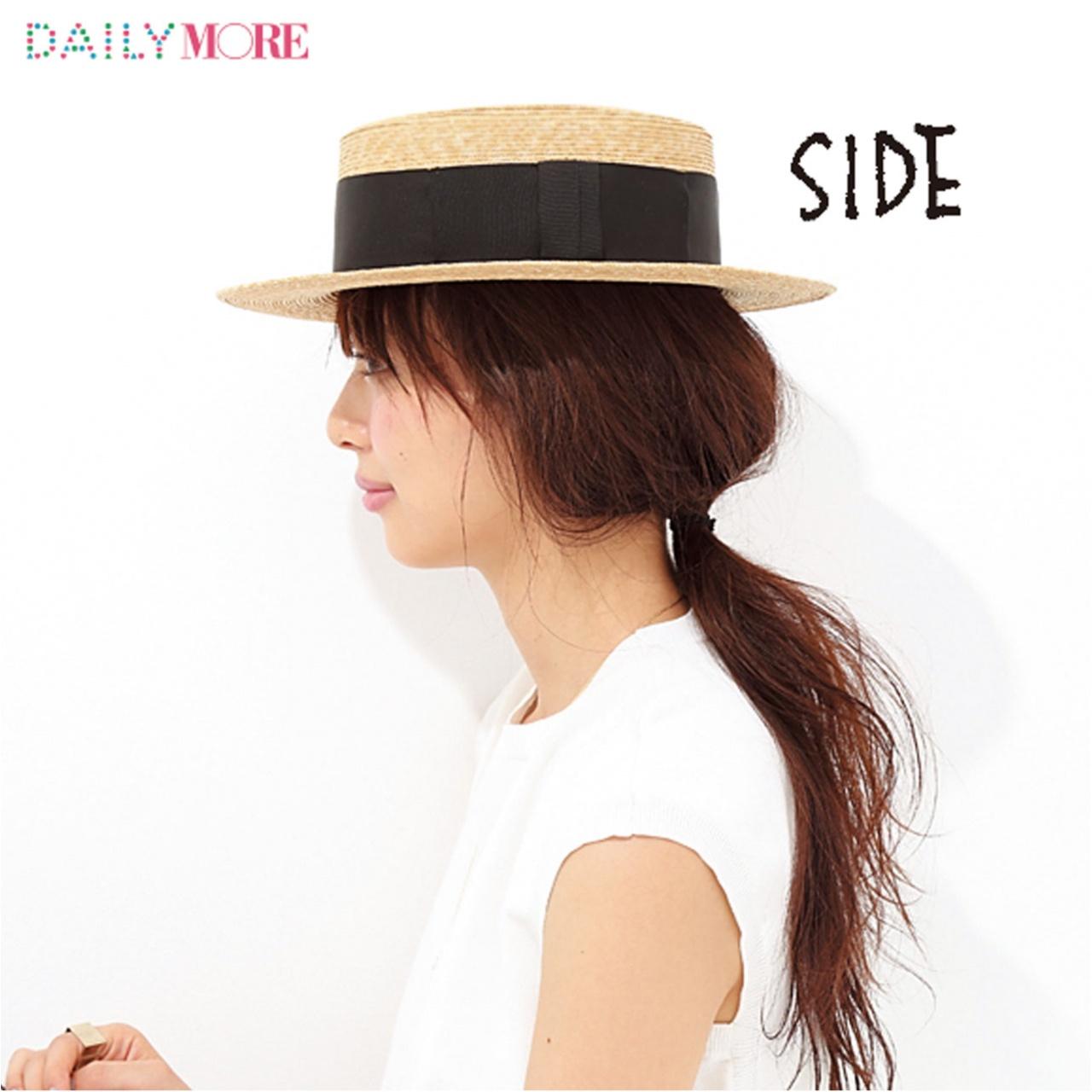 ラフさが断然かわいい! 「カンカン帽をかぶる日」の1分間夏ヘアアレンジ♡_3