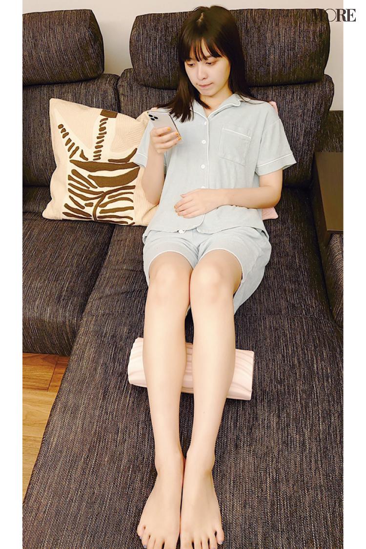 モアモデル松本愛の「赤ちゃん肌をめざす」モーニングルーティンを公開。起床後は筋肉ほぐし&サプリで心と体を整える!_3