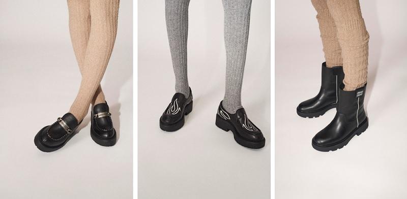 ミュウミュウの新作シューズ「BOYFRIEND」ブーツやローファー