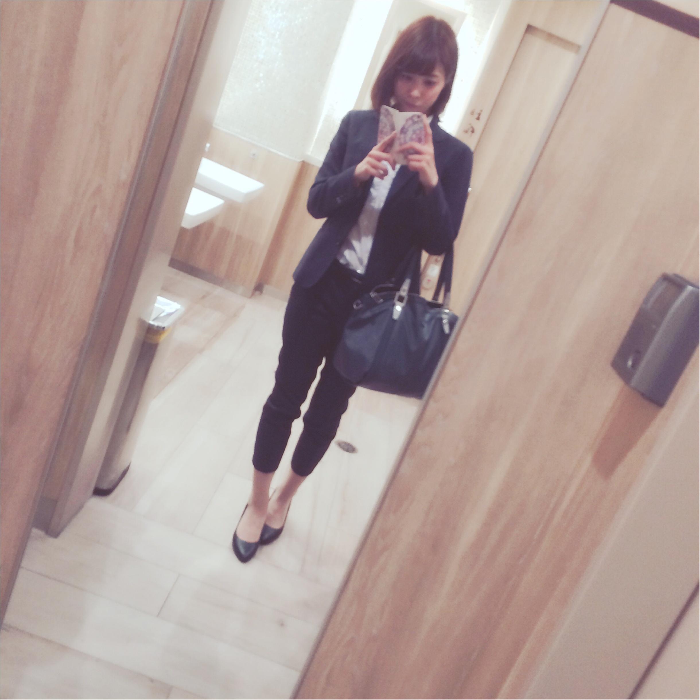 ★スタイルよく見せるなら…シャツ×クロップドパンツスーツコーデ!★_1