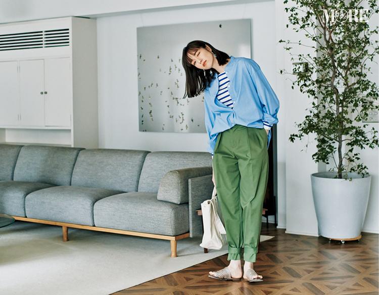 お家で楽で、きれいで仕事にも行けるIN&OUTな春服シャツ部門1位はブルーシャツ