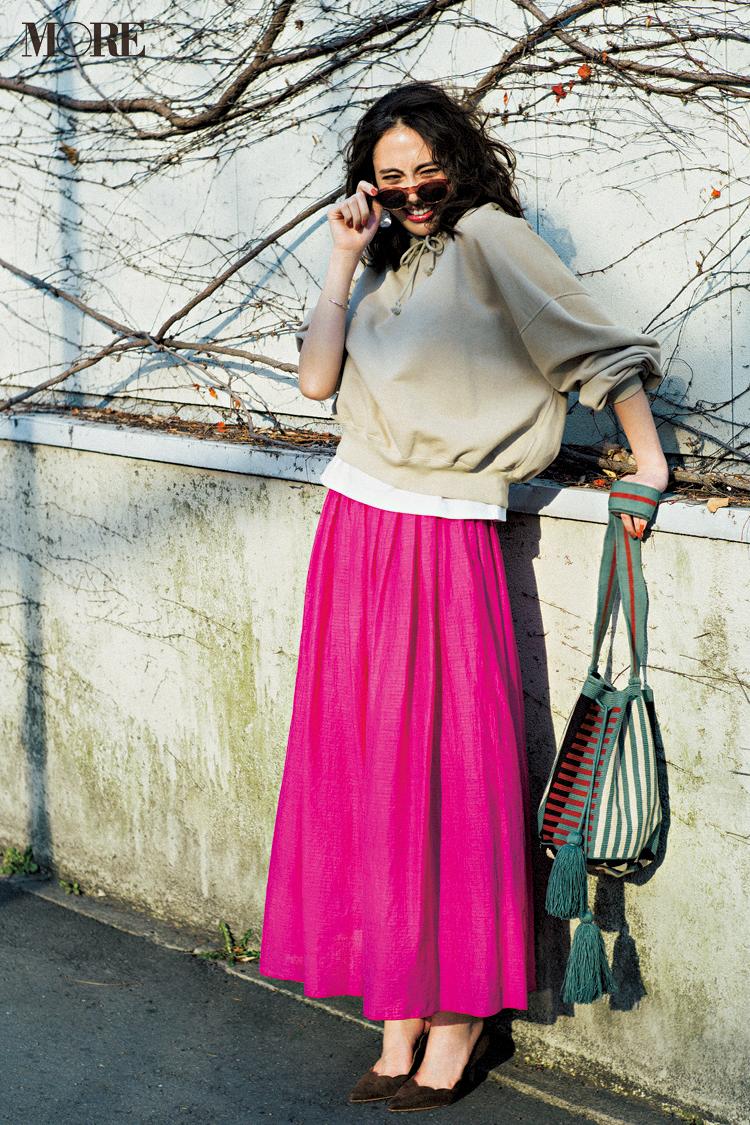 【今日のコーデ】ドライブデートの待ち合わせ♡ フューシャピンクのスカートで会った瞬間ほめられたい <土屋巴瑞季>_1