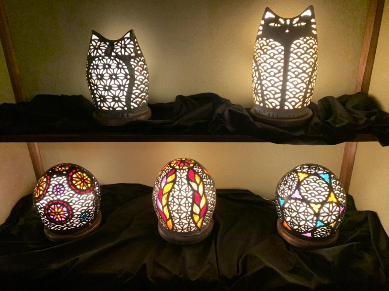 陶芸ランプ
