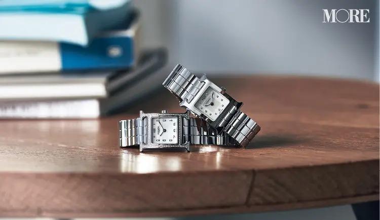 レディース腕時計おすすめブランドのHERMÈS[エルメス]のHウォッチ2本