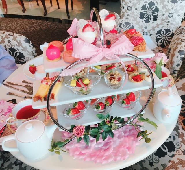 【ラ・スイート神戸ハーバーランド】ストロベリーアフタヌーンティーの苺と薔薇のコラボが可愛すぎる♡♡_10