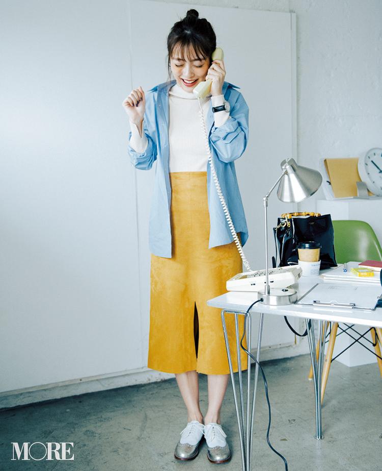 春のシャツコーデ特集《2019年版》- 20代女子におすすめ!オフィスカジュアルにちょうどいい きれいめシャツのコーディネートまとめ_19