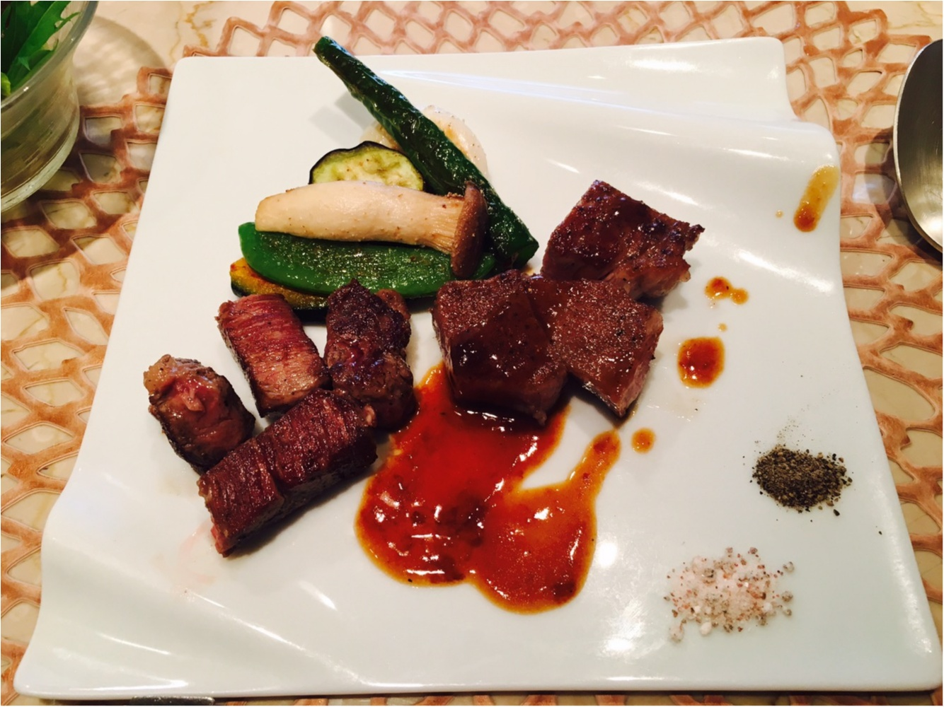 大阪北新地の美味しいステーキ屋さん 鉄板AKIRA _7