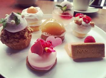 【夏のお疲れ肌にぴったり!】《東京・銀座 NAMIKI667》桃のケーキセットがおすすめ♡