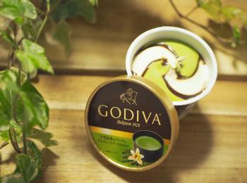 【おすすめアイス】《GODIVA×コンビニアイス》数量限定!「宇治抹茶とバニラにチョコレートソースを添えて」♡