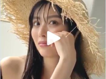 素敵な水着と夏新色コスメを纏うだーさん♡(動画あり)【MORE6・7月号の撮影オフショット】