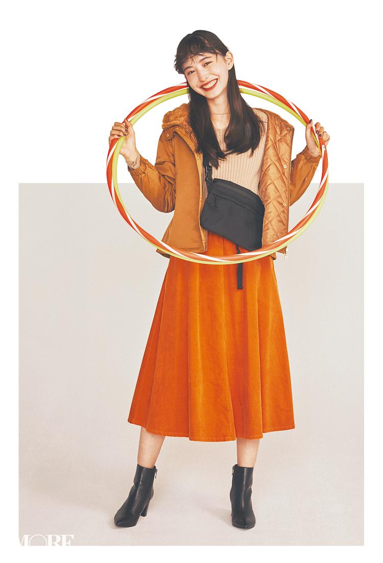 きれい色にトライするならプチプラで♡ 「オレンジ」と「マスタードイエロー」なら顔映えもいい!簡単!おしゃれ!_1_3
