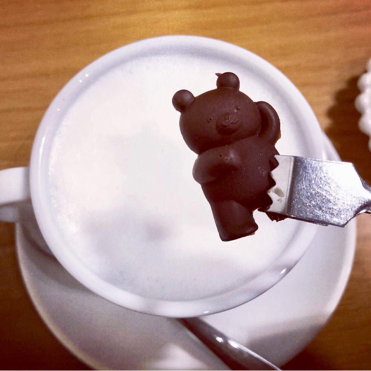 <福岡*博多>くまさんを沈める?!念願の冬季限定ドリンクを求めて人気のカフェへ行ってきました!♡_3