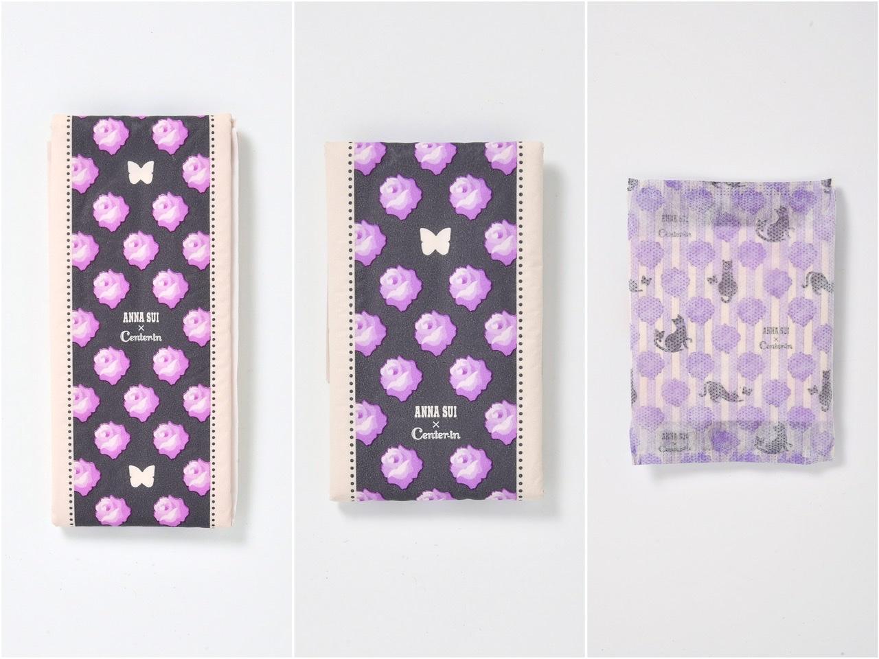ユニチャーム×アナスイコラボパッケージの生理用ナプキン個包装