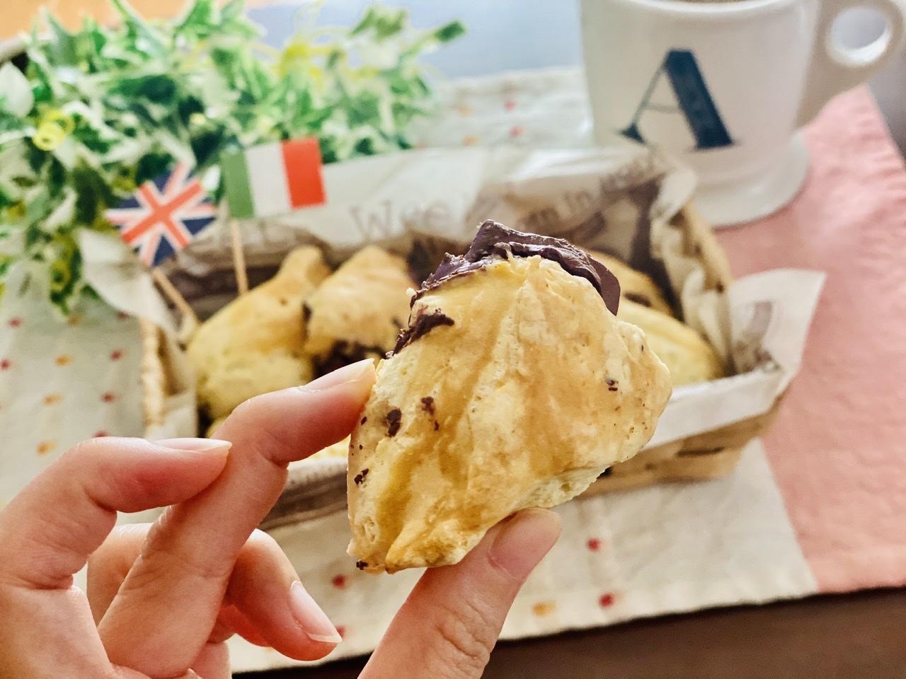 【おうちカフェ】超簡単なのに絶品★ホットケーキミックスでつくる人気レシピを実践♡-チョコチャンクスコーン-_4