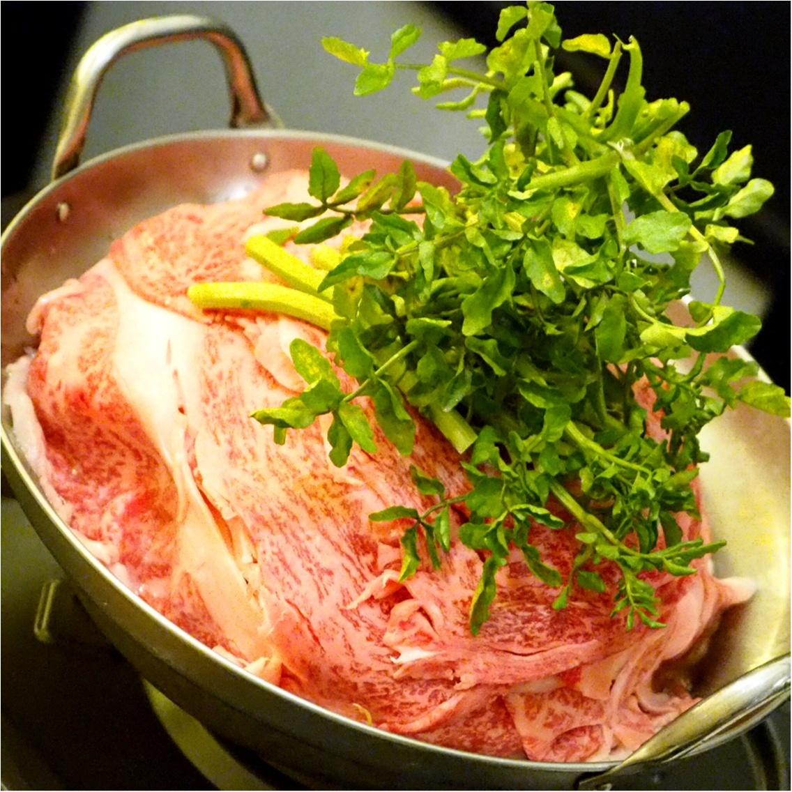暑い夏こそ食べなきゃ♡塩すき鍋は特製の氷ダレをのせてさっぱりとした味わい_5