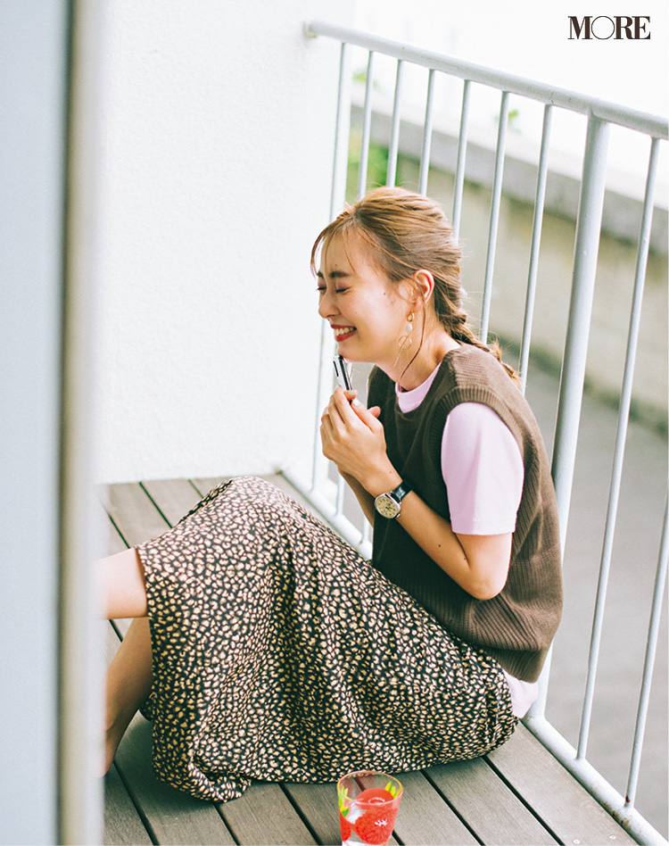 「モテ期もツライわ……♡ これって恋なの!?」内田理央主演・毎日連載『ミスブラウンの愛され着回し』16日目_1