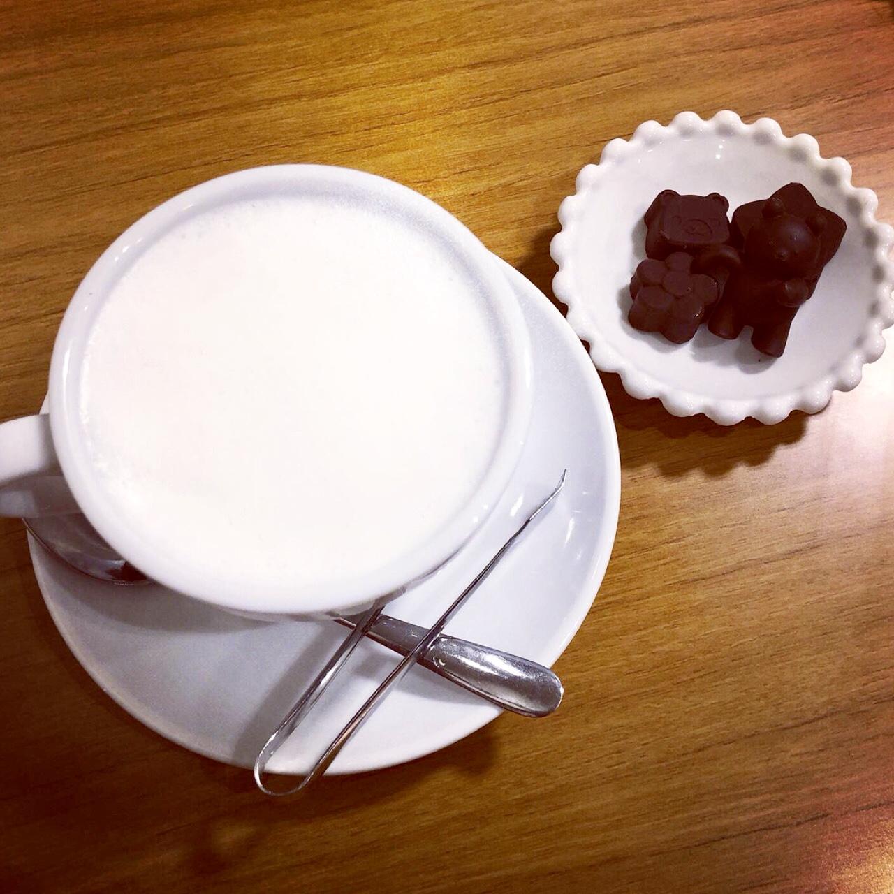 <福岡*博多>くまさんを沈める?!念願の冬季限定ドリンクを求めて人気のカフェへ行ってきました!♡_2