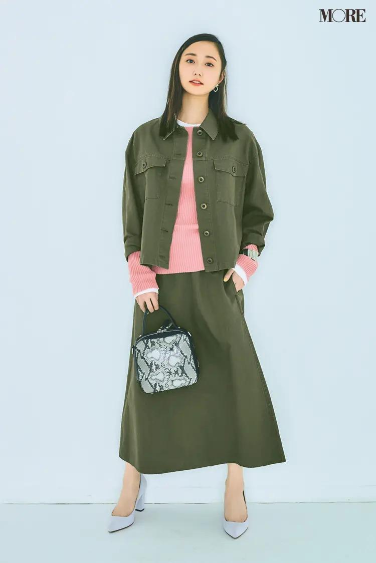 《デニムコーデ》スカート+ジャケットのセットアップ