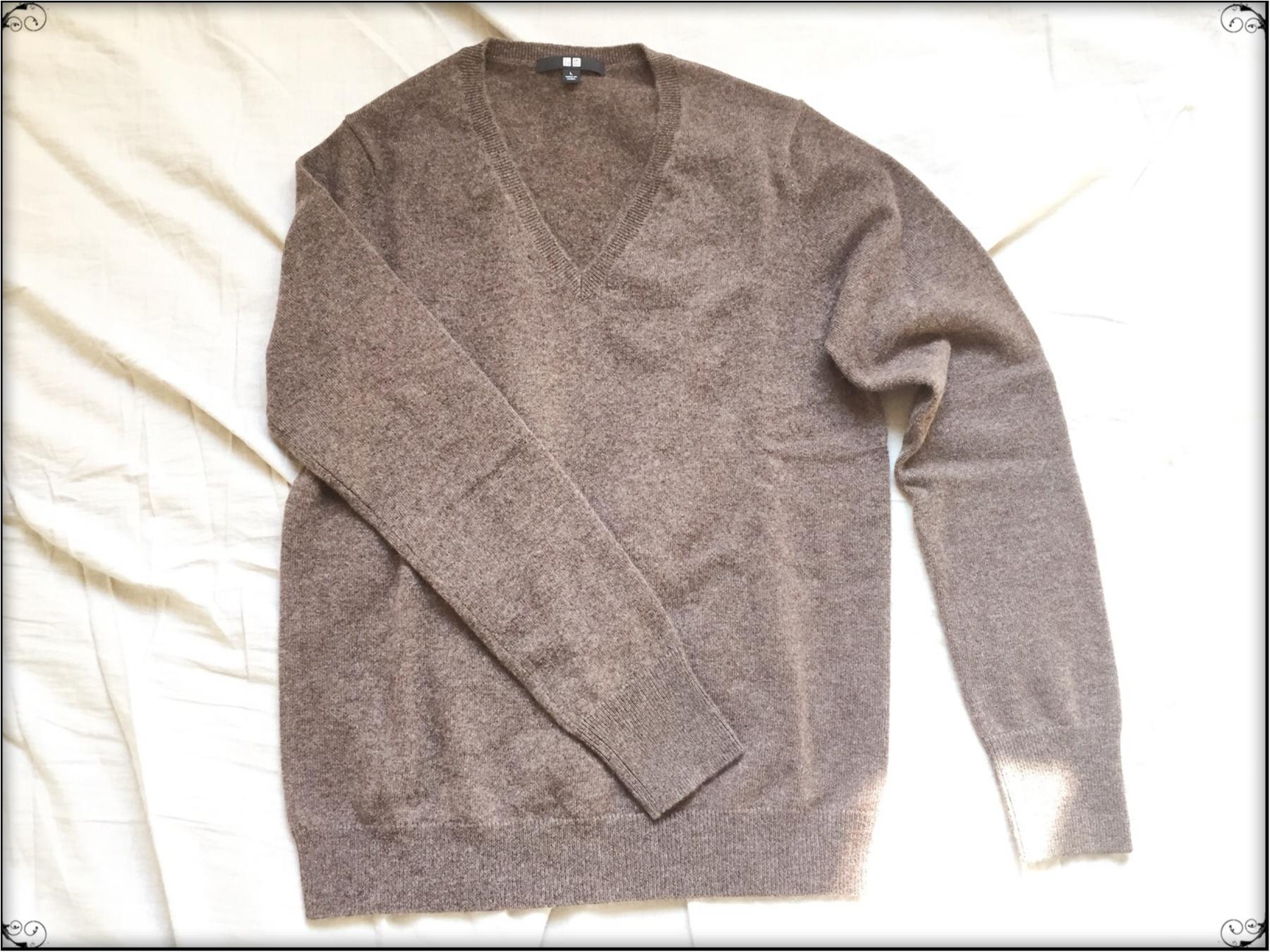 …ஐ 【ユニクロカシミヤVネックセーター】イロチ買いマストの100%カシミヤ素材♥️ふんわり軽くて温かい肌ざわりをこの値段で買えるのはユニクロだけ‼︎ ஐ¨_3