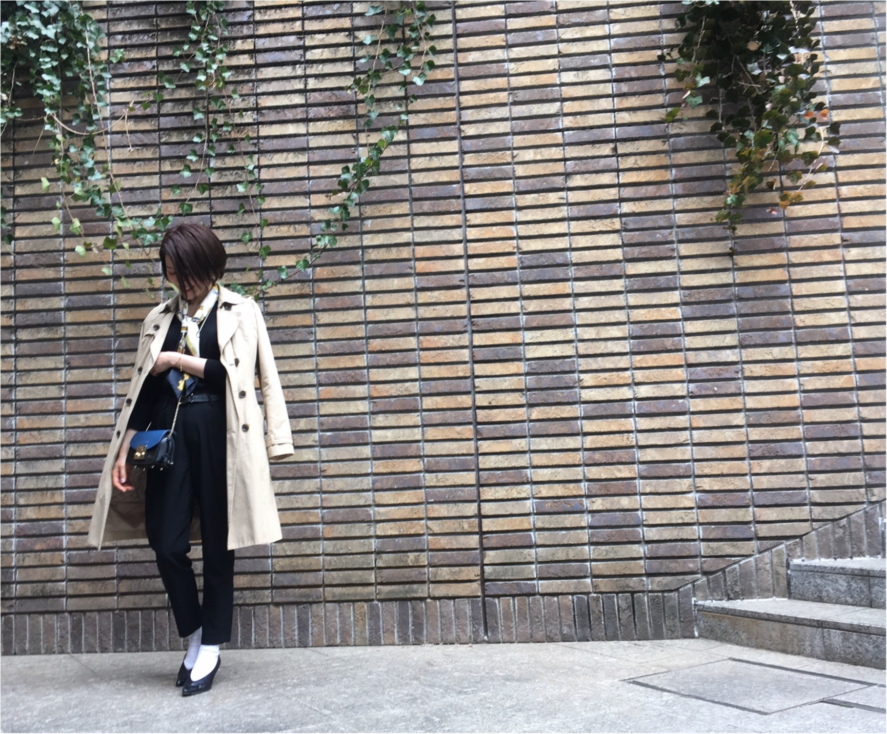Coordinate...ブラックコーデにスカーフと白ソックスをプラスして、おしゃれなあの子と代官山デート♡_3