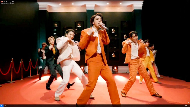 BTS、グラミー賞でパフォーマンス披露時の衣装