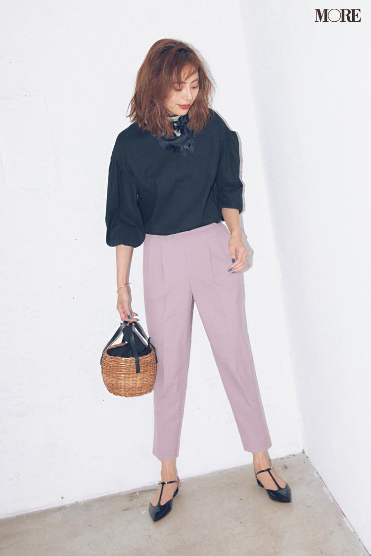 【今日のコーデ】<土屋巴瑞季>通勤ワンツーコーデが映える!きれい色美脚パンツが買いドキ☆_1