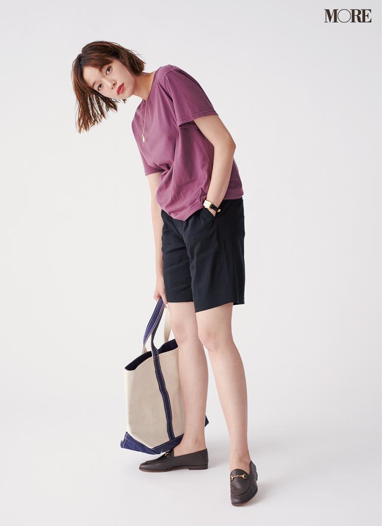 ひざ上丈のパンツを子どもっぽく見せない! 大人の脚見せコーデ見本帳_6