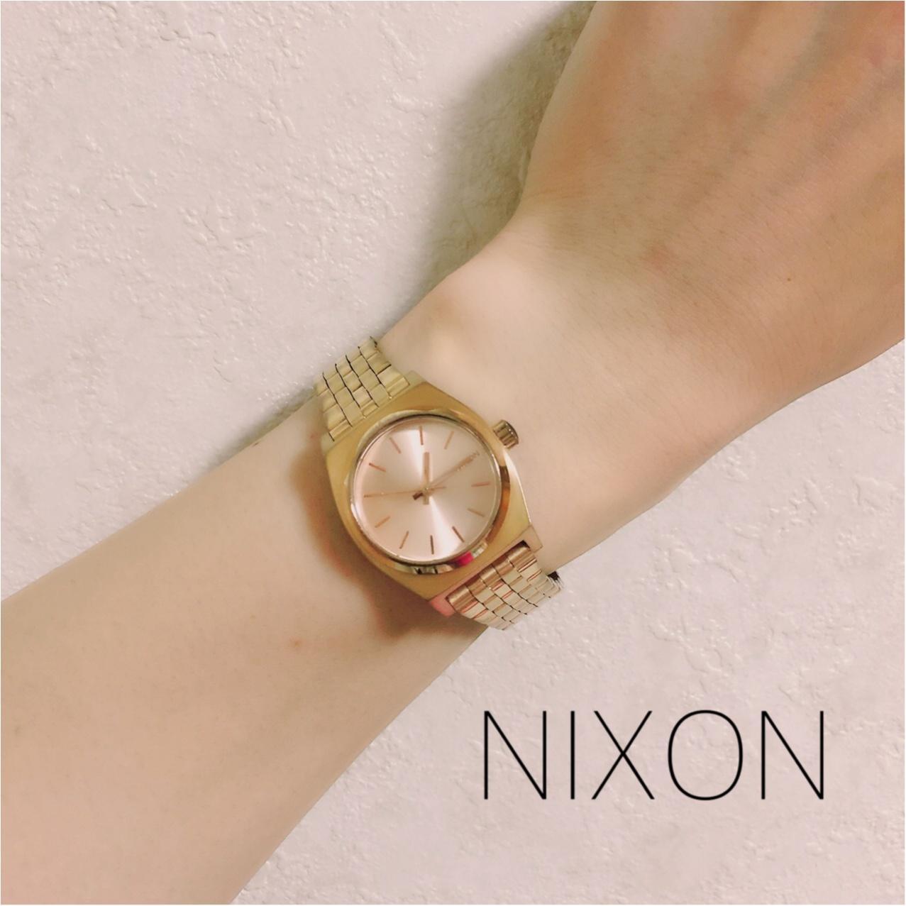 ♡肌をキレイに見せてくれる♡NIXONの腕時計_1