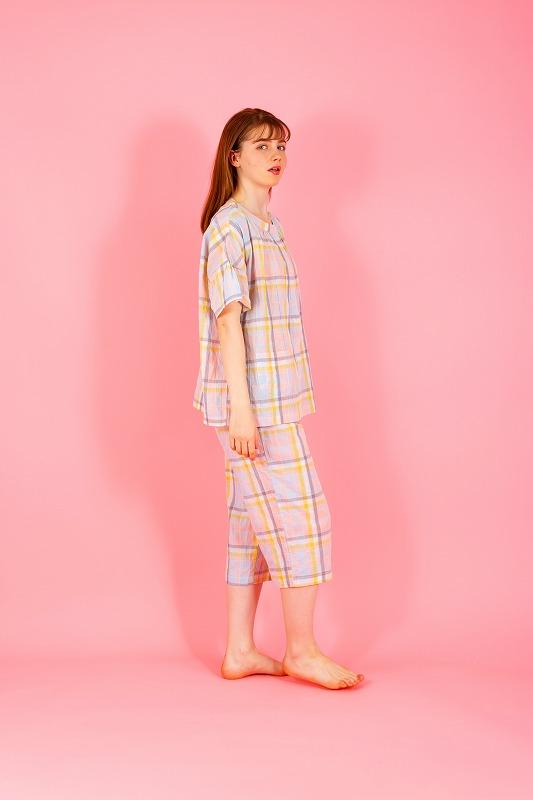 『ポール & ジョー』シャーリングチェック半袖パジャマの画像