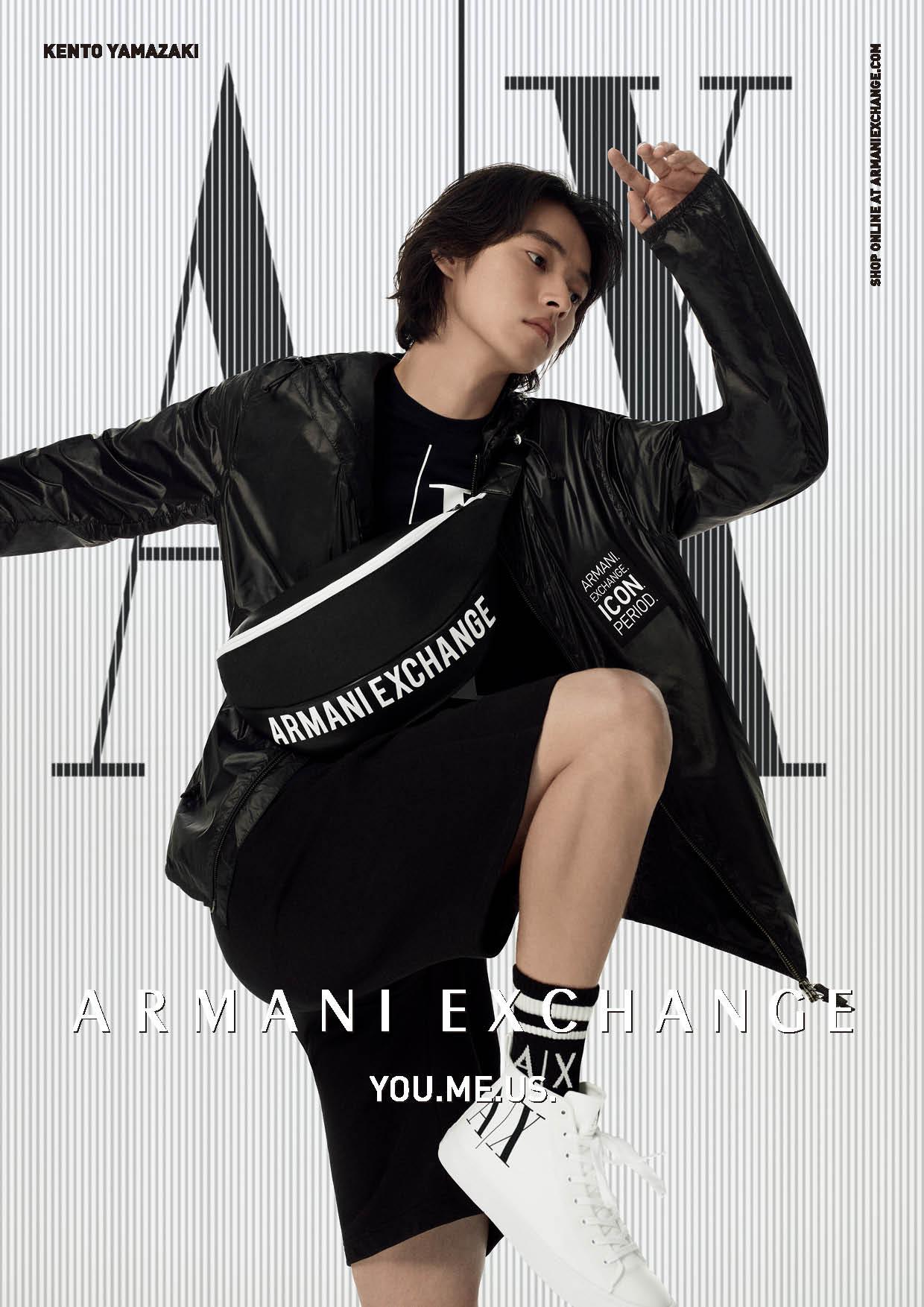 山﨑賢人さんが出演するA|X アルマーニ エクスチェンジの2021春夏コレクションビジュアル