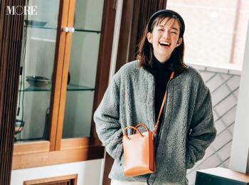 【今日のコーデ】<佐藤栞里>残業ナシの水曜はボーイッシュコーデ+ボアブルゾンで可愛げアクティブに