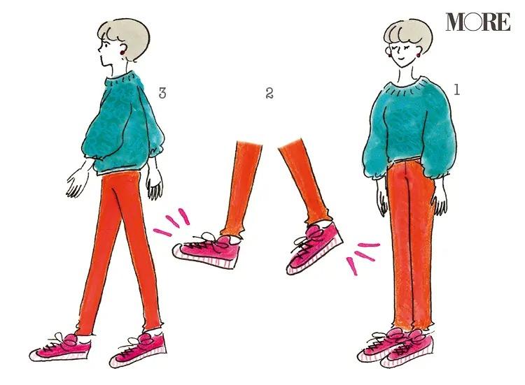 立った状態でマインドフルネスを実践する女性のイラスト