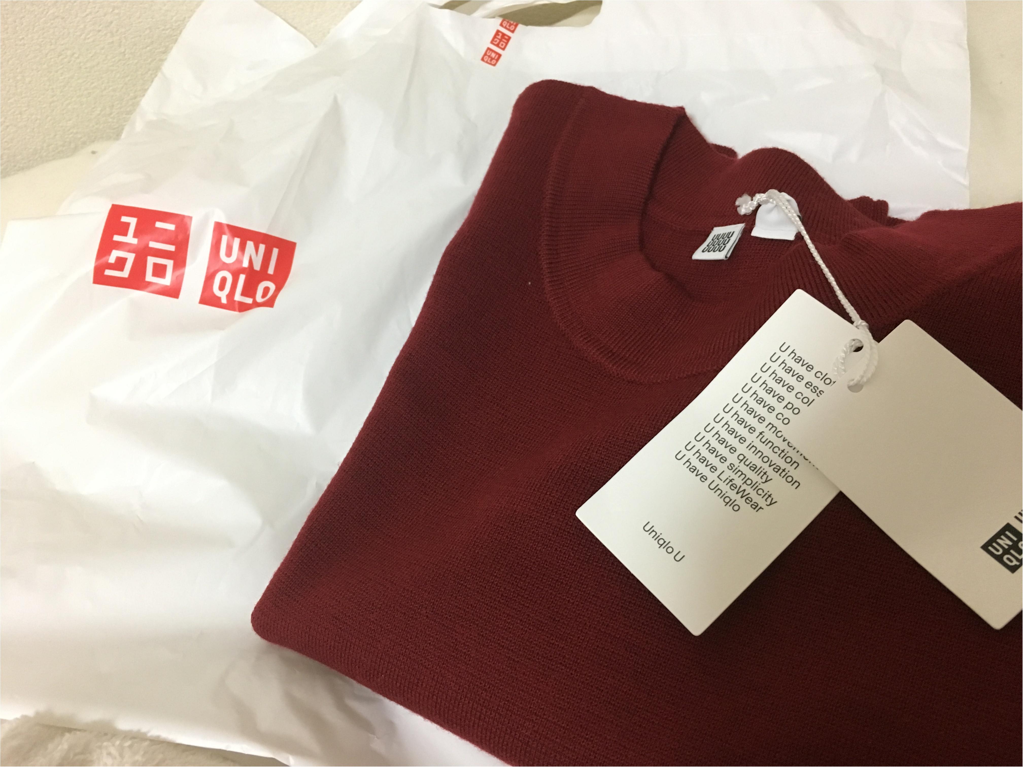 ★UNIQLO感謝祭最終日!わたしが買ったのは2000円OFFになった【UniqloU】のセーター!_1