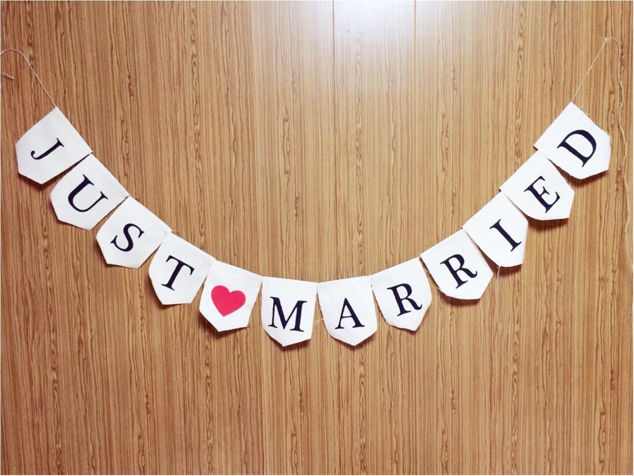 花嫁DIY♡結婚式の写真をおしゃれに演出 【ガーランド】_7