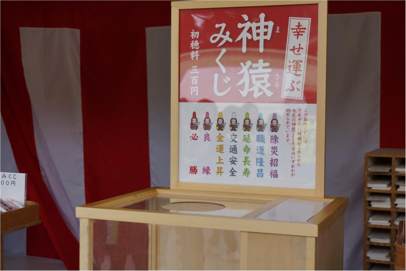 《幸せを運ぶ七色の神猿守が可愛い‼︎》東京赤坂にある日枝神社でひける人気の神猿みくじ♪_2