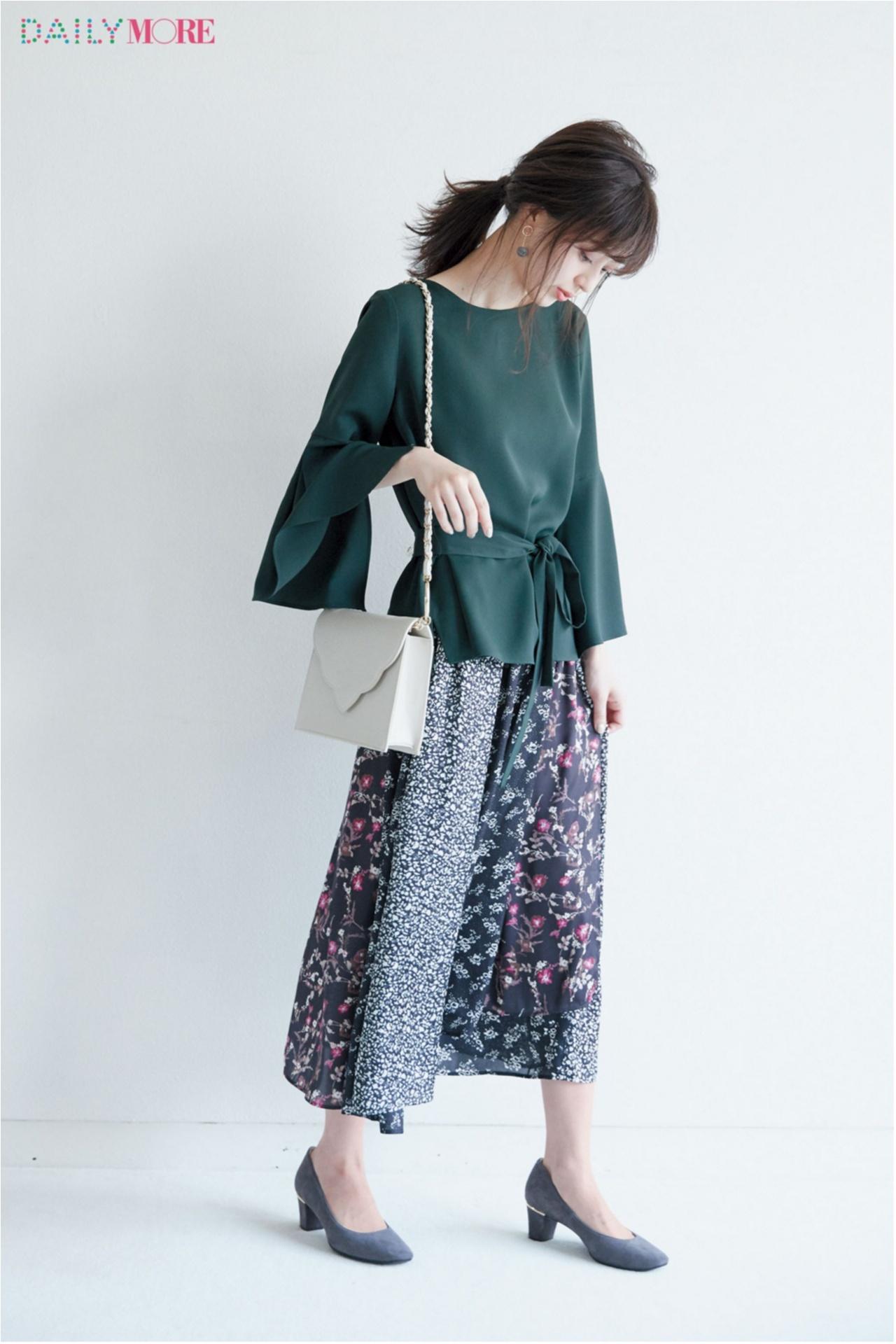 秋コーデを軽やか&華やかに♪ 「フレアスカート」の着こなしまとめ♡_1_3