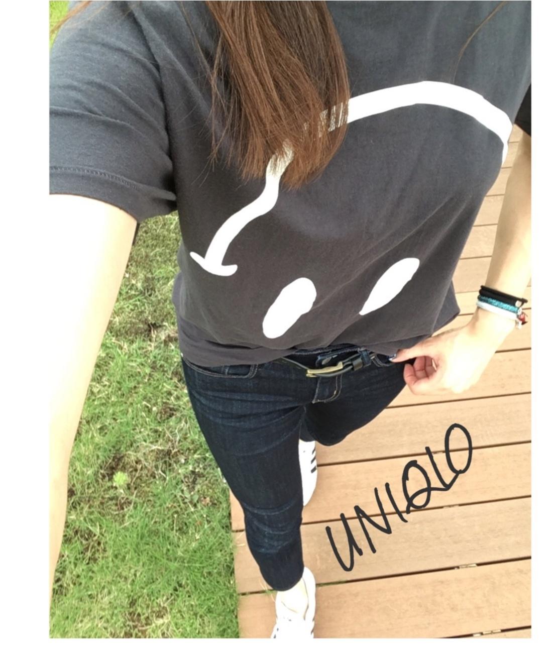 ▶▶お気に入りのTシャツと〈UNIQLO〉デニムでスポーティコーデ~お気に入りTシャツを長持ちさせるには~【はるな】_2