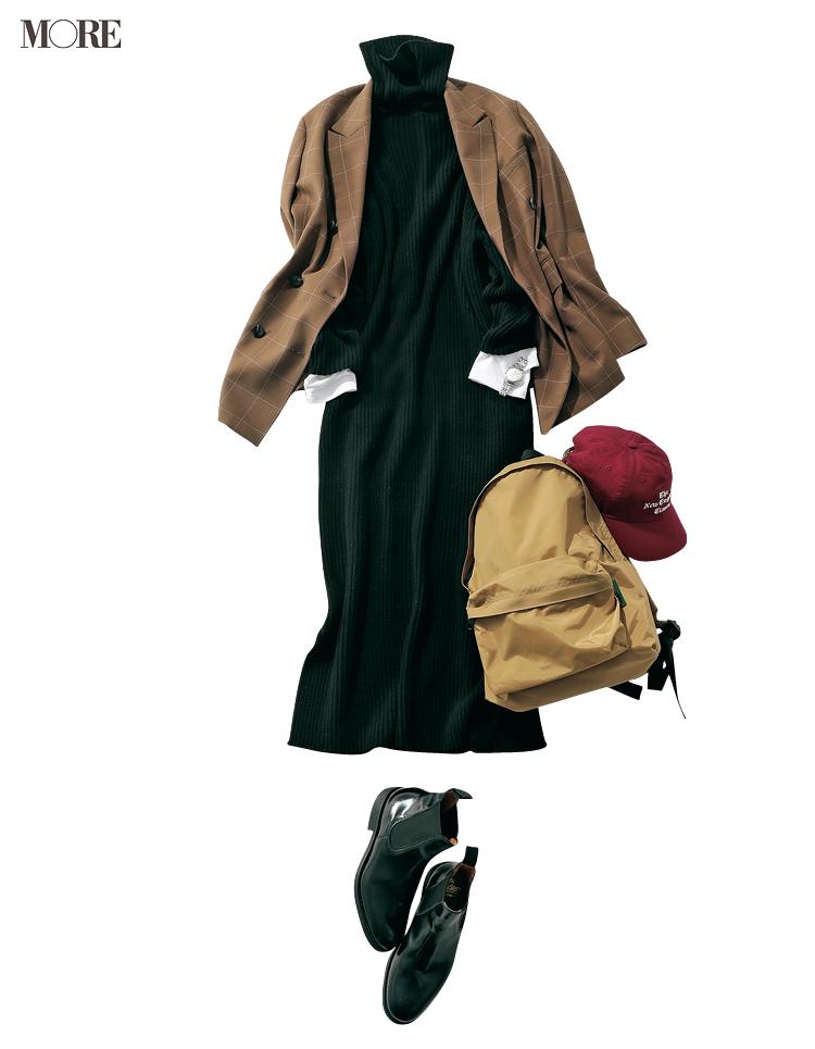 """本田翼が秋の""""週3アイテム""""で魅せます! 茶系のジャケットとワンピース、たとえばこんな着こなしで♡_3"""